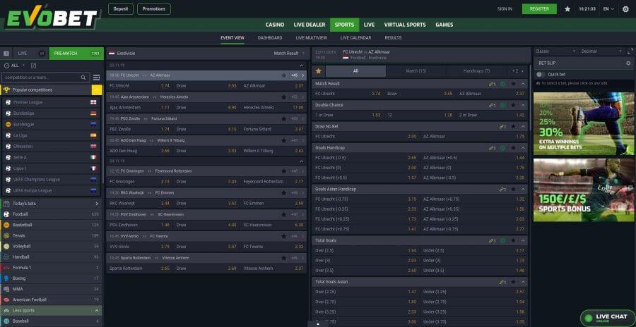 weddenopsport.eu evobet screenshot