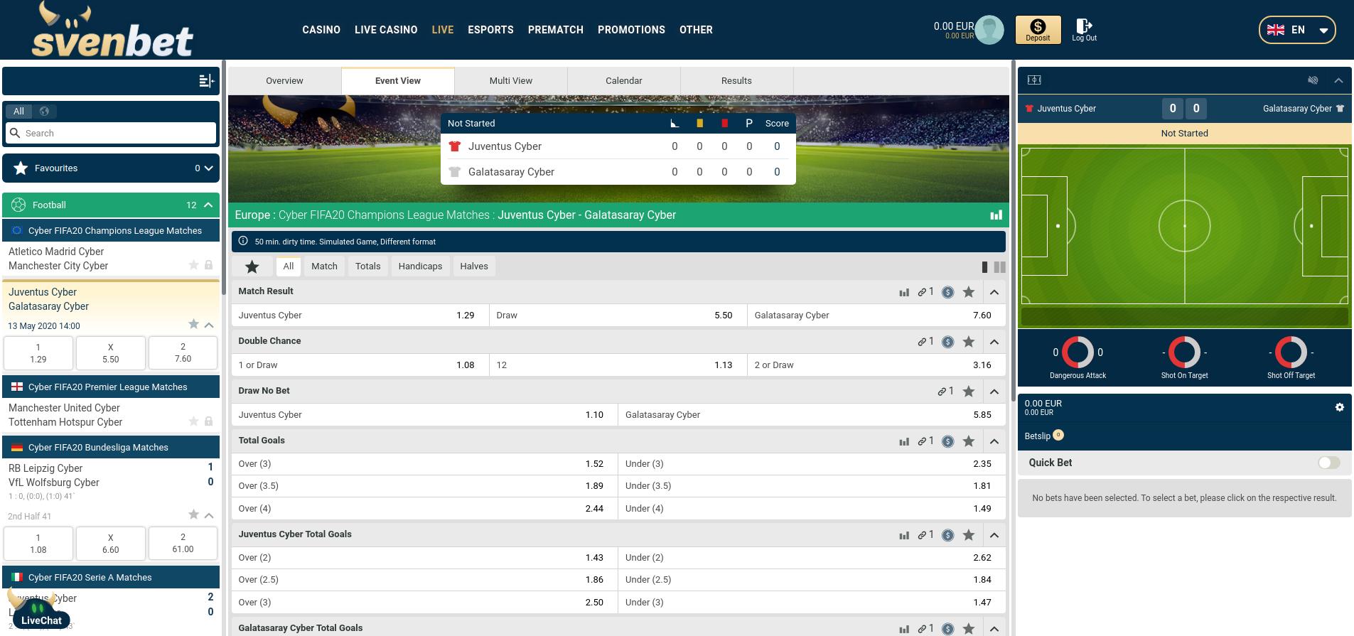 weddenopsport.eu review svenbet sportsbook homescreen screenshot mei 2020